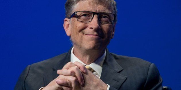 Bill Gates, founder of Microsoft and co-chairman of the Bill and Melinda Gates Foundation, participates...