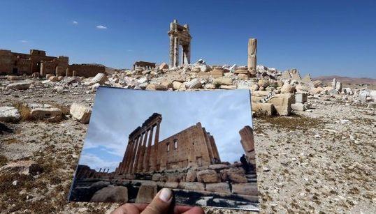 7 fotos que muestran el estado de Palmira antes y después del