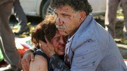 Un doble atentado contra una marcha pacifista deja 97 muertos en
