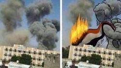 Una artista yemení transforma el humo de las bombas en obras de arte