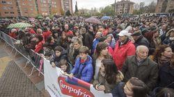Multitudinaria marcha en Burgos en apoyo a los trabajadores de