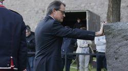 Artur Mas homenajea a Companys antes de declarar como imputado por el
