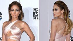 Jennifer Lopez no quiso pasar desapercibida en los AMA... y lo