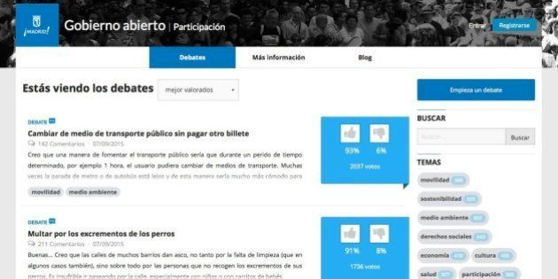Gobierno abierto: El Ayuntamiento de Madrid estrena democracia