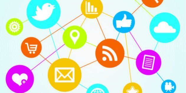 A network of social media and file sharing