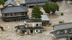 Japón es engullido por las inundaciones tras el paso del ciclón Etau (VÍDEO,