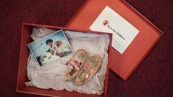 La historia tras estos zapatos enviados por correo a