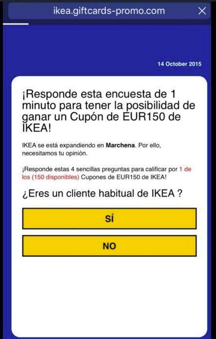 Cuidado con las giftcards de Ikea: detrás hay un fraude