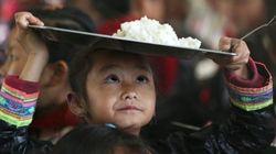 Tienes que ver al niño que hace malabares con su plato de arroz (y otras 9 fotos del