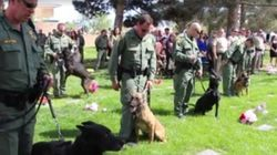 El emotivo funeral a un perro policía muerto en un tiroteo