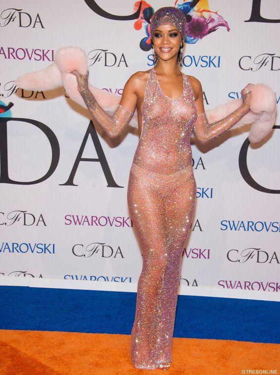 Premios CFDA: el vestido transparente de Rihanna