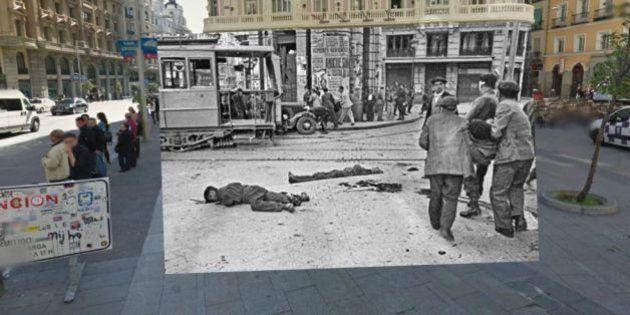 El Madrid de la Guerra Civil y el actual, unidos en Google Street