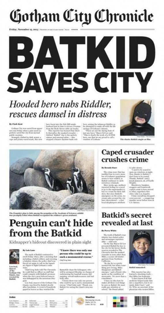 San Francisco se convierte en Gotham para el niño que desea ser