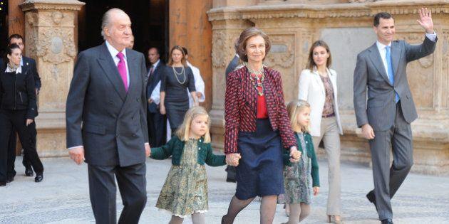 La Familia Real serán Juan Carlos y Sofía, los reyes Felipe y Letizia y sus hijas (FOTO