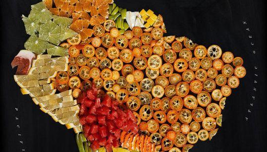 11 mapas para abrir boca: países hechos con comida