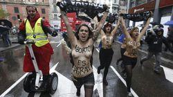 Detenidas cinco Femen en Madrid tras irrumpir en una marcha