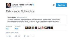 Rufián responde a Pérez-Reverte: