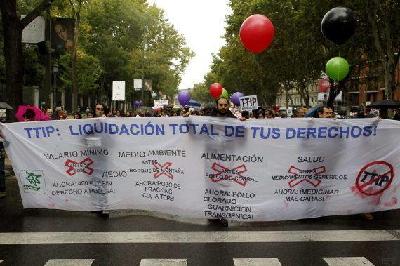 Miles de personas se manifiestan en Madrid contra el TTIP, la pobreza y la exclusión