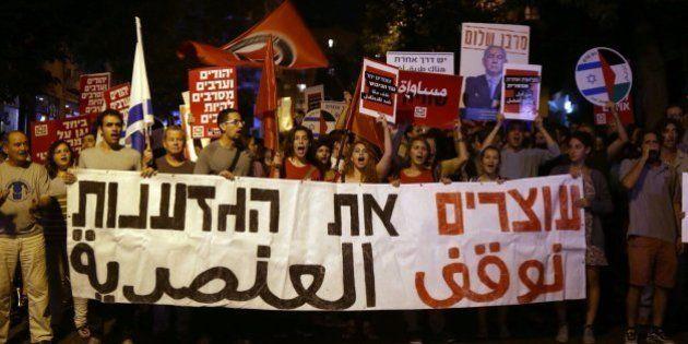 Palestinos e israelíes marchan juntos por la paz en Jerusalén