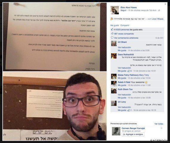 Un palestino de Barcelona, acosado en su edificio de Tel Aviv por el miedo de sus