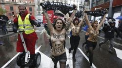 En libertad las activistas de Femen que irrumpieron en una marcha