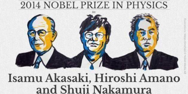 Premio Nobel de Física 2014 para Akasaki, Amano y Nakamura por inventar el diodo de luz