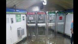 Inundaciones, filtraciones, charcos... La lluvia saca los colores al Metro de