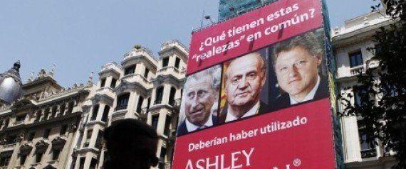Una web de citas se anuncia con Rajoy poniendo los cuernos a España con