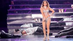 Jennifer Lopez hace 'un Lenny Kravitz' en un concierto en Las