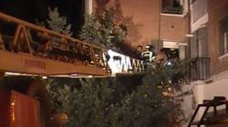 Se derrumba un edificio en Madrid poco después de ser