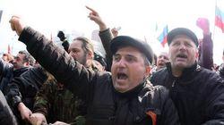 Decenas de heridos en el este de Ucrania en protestas contra el poder de