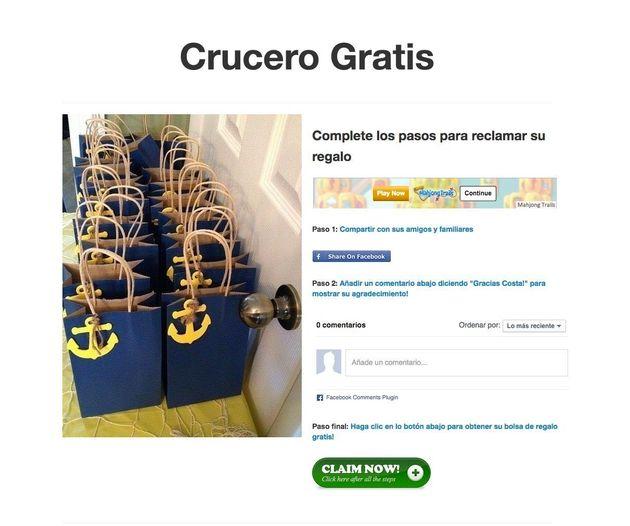 La Policía alerta de un fraude masivo en Facebook que oferta falsos viajes de Costa