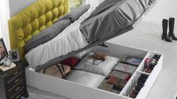 La cama como espacio de almacenamiento: ¿es una buena