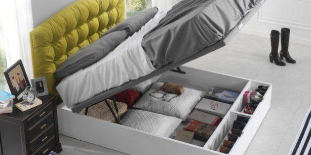 La cama como espacio de almacenamiento es una buena idea - Como hacer un canape ...