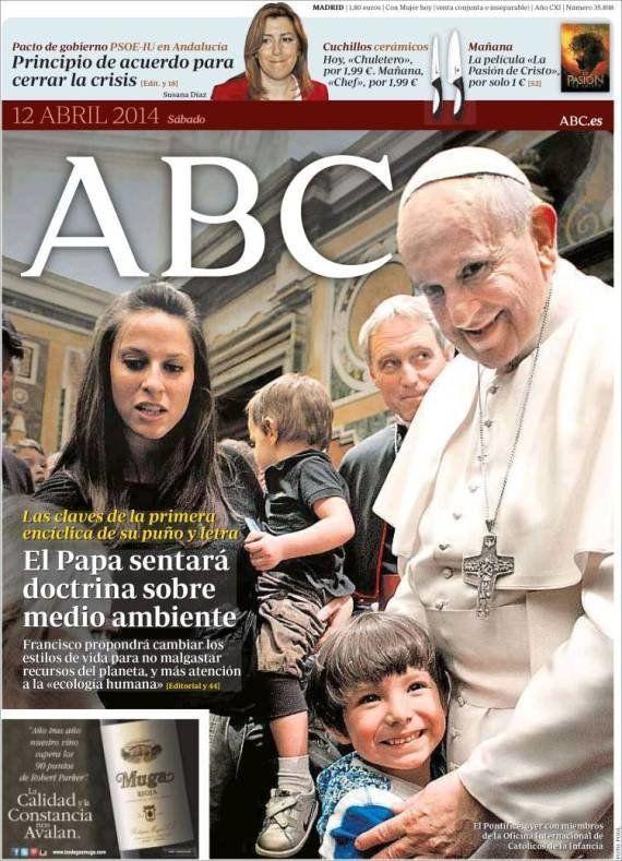 Esta portada de 'ABC' dedicada al Papa está dando mucho que hablar