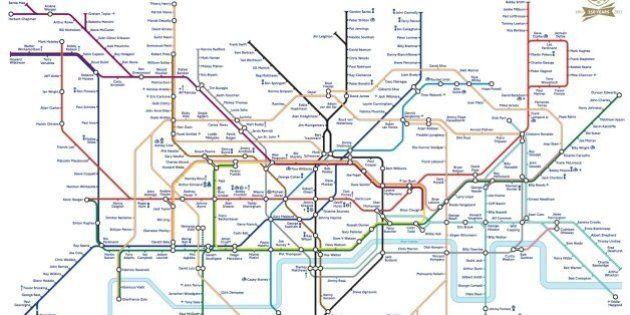 El Metro de Londres homenajea a la Federación Inglesa de Fútbol
