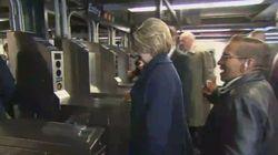 Los problemas de Clinton para entrar en el Metro