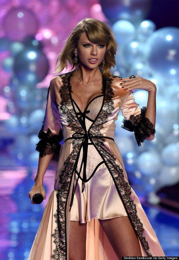 Taylor Swift canta en lencería para los ángeles de Victoria's Secret