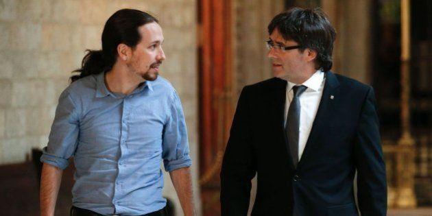 Puigdemont regala a Iglesias un cómic sobre Andreu