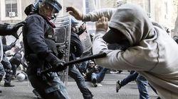 Una marcha contra los recortes en Roma acaba en batalla campal