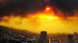 Las tremendas imágenes del incendio en la chilena Valparaíso