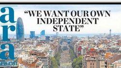 Así ha visto la prensa española e internacional la manifestación de la