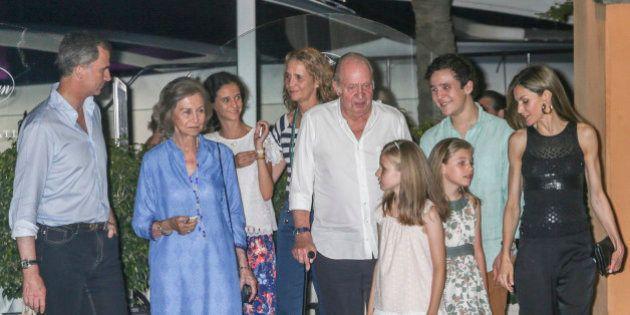 La Familia Real llega a Mallorca: primera cena al