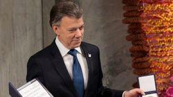 Santos recoge el Nobel: