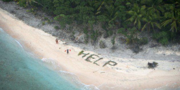 El SOS que permitió el rescate de tres náufragos en una remota