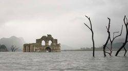 Una iglesia sumergida de 450 años queda al descubierto por la