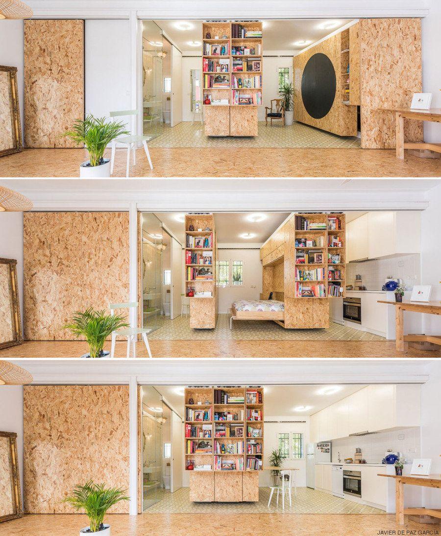 Paredes que se mueven: una solución para casas pequeñas o con problemas de espacio (VÍDEOS,