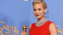 Jennifer Lawrence confiesa por qué se puso este vestido en los Globos de