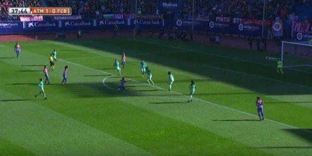 Sonia Bermúdez marca este golazo para el Atlético de Madrid ante el