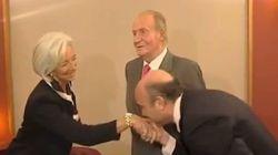 Cachondeo en Twitter con la reverencia de Guindos a Lagarde